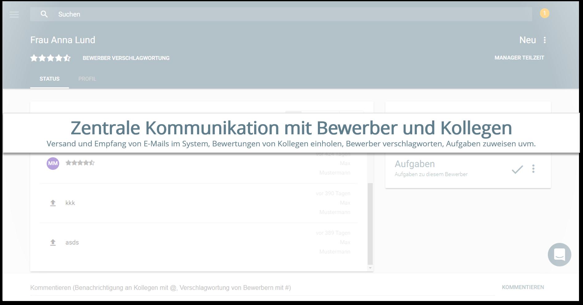 onapply Bewerbermanagement Software - Profil